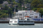 Sausalito Framed Prints - Angel Island Ferry Framed Print by Jeff Lowe