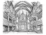 Synagogue Drawings - Angel Orensanz venue in NYC by Building  Art