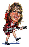 Art  Prints - Angus Young Print by Art