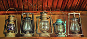 Kerosene Lamps Posters - Antique Kerosene Lamps Poster by Dave Mills
