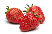 Food And Beverage Pyrography Metal Prints - Appetizing strawberries Metal Print by Pavlo Kolotenko
