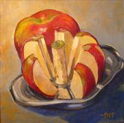 Apple Split Fine Art Print by Denise Ivey Telep