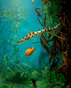 Seahorses Prints - Aquarium 76 Print by Joyce StJames