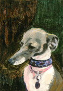 Whippet Painting Prints - Aristocrat Print by Michael Jacques