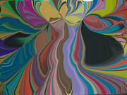Colors Glass Art Prints - Array Print by Damion Powell
