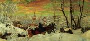 Boris Mihajlovic Kustodiev - Arriving for the Holidays