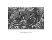 American History Framed Prints - Assassination of President Lincoln Framed Print by War Is Hell Store