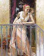 Pino Daeni - At the Balcony