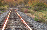 Mississippi Photographs Prints - Autumn Rails Print by Deborah Smolinske