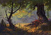 Warm Colors Paintings - Autumn Shade by Michael Humphries