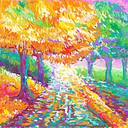 Autumn Prints Pastels Posters - Autumn VI Poster by Penny Owens