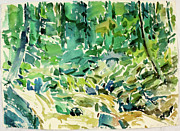 Intuitive Artwork Originals - b. Mountain Run Stream by Arthur Kvarnstrom