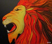 Cool Lion Prints - Badlion Print by Robert Francis