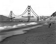 Golden Gate National Recreation Area Photos - Baker Beach In SF by Underwood Archives