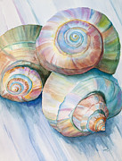 Michelle Wiarda - Balance in Spirals Watercolor Painting