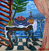 Karon Melillo DeVega - Balcony by the Mediterranean Sea