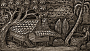 Steve Harrington - Bali Wood Carving monochrome