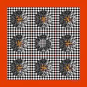 Op Art Digital Art Posters - Ball and Jacks Poster by Walter Neal