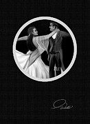 American Oil Wells Posters - BALLROOM DANCERS - Detail - 4 of 10 in Series Poster by Andrew Wells