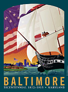 Bicentennial Prints - Baltimore - By the Dawns Early Light Print by Joe Barsin
