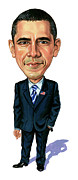 Caricatures Art - Barack Obama by Art