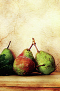 Stucco Prints - Bartlett Pears Print by Stephanie Frey
