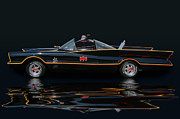 Photomanipulation Photo Prints - Batmobile Print by Bill Dutting