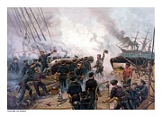 Sea Battle Art - Battle Between Kearsarge And Alabama by War Is Hell Store