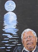Reflecting Water Prints - Bb King Painting Print by Jeepee Aero
