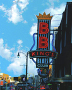 Blues Club Posters - BB KIngs Poster by Lizi Beard-Ward