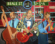 B.b.king Paintings - Beale Street by John Keaton