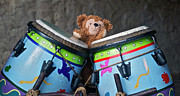 Disney Bear Photos - Bear and His Drums at Walt Disney World by Thomas Woolworth