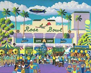 Ucla Posters - Beautiful Downtown Bruinville Poster by Frank Strasser