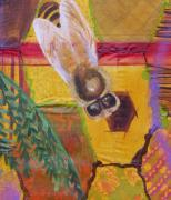 Anne Cameron Cutri - Bee detail of Beehive painting