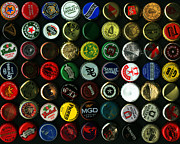 Wingsdomain Art and Photography - Beer Bottle Caps . 8 to 10 Proportion