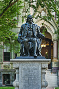 University Of Pennsylvania Posters - Ben Franklin at the University of Pennsylvania Poster by John Greim