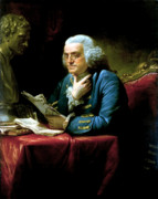 American Revolution Painting Prints - Ben Franklin Print by War Is Hell Store