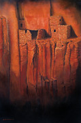 National Paintings - Betatakin Ruins by Jerry McElroy