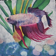 Marbles Paintings - Betta by Teresa Beyer