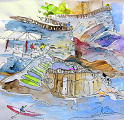 Europe Drawings - Biarritz 03 by Miki De Goodaboom
