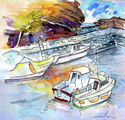Europe Drawings - Biarritz 12 by Miki De Goodaboom