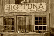 Suzanne Gaff - Big Tuna Restaurant and Raw Bar in sepia