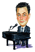 Singer Paintings - Billy Joel by Art