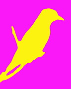 Ramona Johnston - Bird Silhouette Pink Yellow