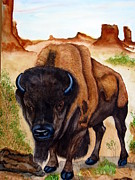 American Bison Prints - Bison-american buffalo Print by Emmanuel Turner