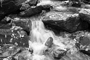 White Pebbles Originals - Black and White Mini Waterfall by Michael Waters