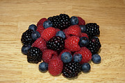 Raspberry Photo Originals - Black Blue Red by Michael Waters