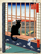 Jerry Schwehm - Black Cat at Window