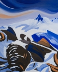 Whistler Painting Posters - Black Tusk Poster by Ginevre Smith