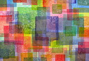 Multicolor Paintings - Blocks III by Holly York